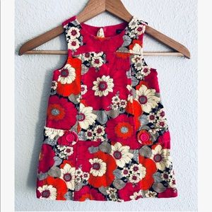 Baby GAP floral corduroy dress sz: 18-24 mos